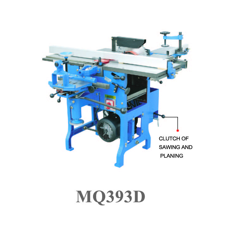 Multi-use woodworking machine MQ393D